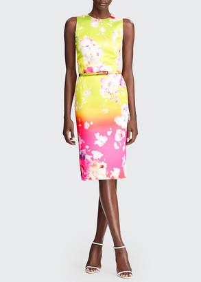 Ralph Lauren Collection Tuscon Ombre Floral-Print Cocktail Dress