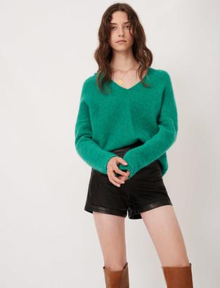 Maje V-neck marl sweater