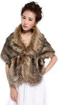 Hailie Bridal HailieBridal Sleeveless Faux Fur Bride Bridesmaid Shawl