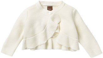 Tea Collection Ruffled Knit Sweater (Baby Girls)