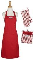 Design Imports Tomato Chef Gift Set Includes Apron/Potholder/Ovenmitt Red/White