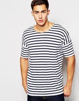 Minimum Scoop Neck Stripe T-shirt