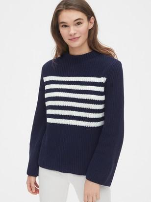 Gap Stripe Bell-Sleeve Sweater