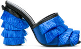 Marco De Vincenzo fringed mules - women - Silk/Leather/Polyamide - 37