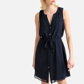 Naf Naf Lageorgy Button-Through Shirt Dress with Tie-Waist