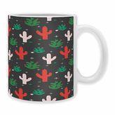 """DENY Designs Zoe Wodarz """"Cactus Christmas"""" Mugs (Set of 2)"""