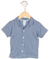 Petit Bateau Boys' Striped Short Sleeve Shirt