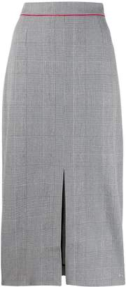 Tommy Hilfiger checked high waisted pencil skirt