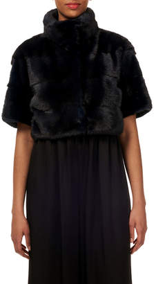 Gorski Horizontal Mink-Fur Bolero Jacket