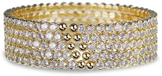 Cz By Kenneth Jay Lane Trend 14K Goldplated & Crystal Cuff Bracelet