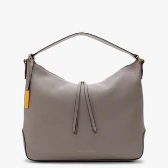 Smaak Kaylee Pebbled Grey Leather Hobo Bag