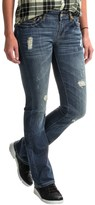 Specially made Rhinestone Rivet Jeans - Slim Fit (For Women)