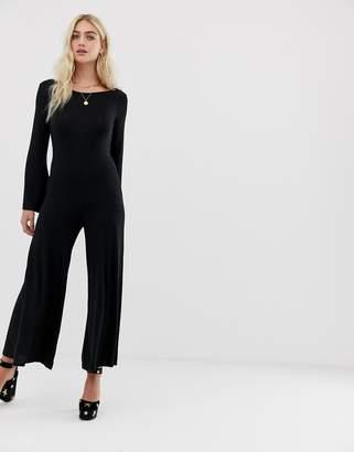 Nytt NYTT Emily scoop back wide leg jumpsuit-Black