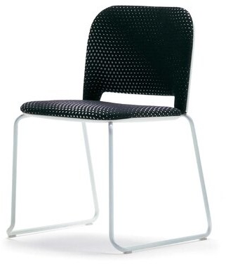 Lips Armless Stackable Chair Segis U.S.A Outside Seat Finish: Black, Inside Seat Upholstery: Momentum Beeline Vinyl Canvas, Frame Finish: Black