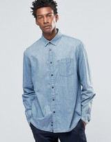 Celio Regular Fit Denim Shirt with Pocket