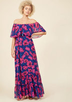 ModCloth Fabulous Influence Maxi Dress in Magenta in 8