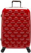 Lulu Guinness Hard Sided 4-Wheel Medium Case - Red
