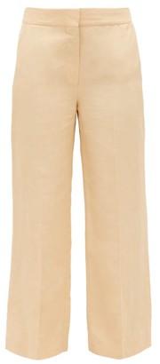 BLAZÉ MILANO Chips Slubbed Kick-flare Trousers - Cream