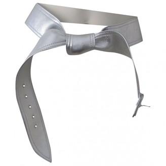 Maison Margiela Silver Leather Belts