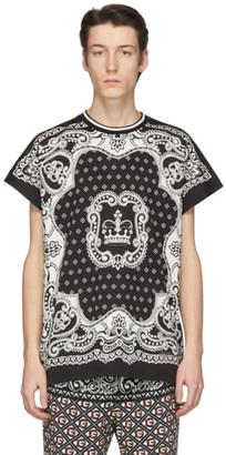 Dolce & Gabbana Black and Off-White Bandana T-Shirt