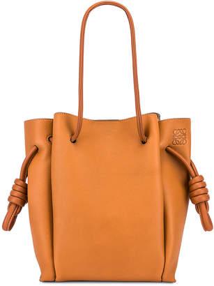 Loewe Flamenco Knot Tote Small Bag in Light Caramel & Tan | FWRD
