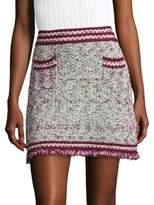 M Missoni Frayed Tweed Mini Skirt