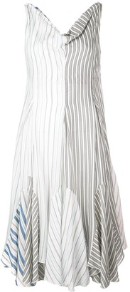 J.W.Anderson Striped Handkerchief Dress
