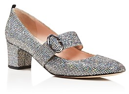 Sarah Jessica Parker Tartt Metallic Mary Jane Mid Heel Pumps