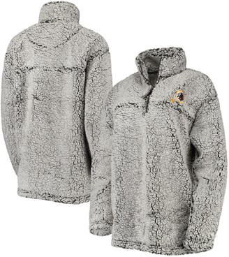 Redskins Women's Gray Washington Sherpa Quarter-Zip Pullover Jacket