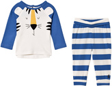 Joules Blue Tiger Applique Top and Leggings Set