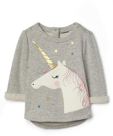 Gap Unicorn terry pullover