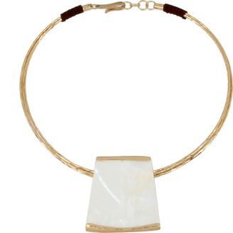 Robert Lee Morris Soho Geometric Pendant Collar Necklace