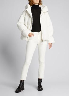 Nicole Benisti Matignon Tweed Puffer Jacket, White
