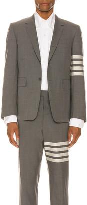 Thom Browne 4 Bar Engineered Suit Jacket in Medium Grey | FWRD