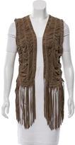 Roberto Cavalli Fringe-Accented Leather Vest