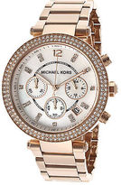 Michael Kors MK5491 Women's Parker Chronograph Crystal Rose-Tone Stainless