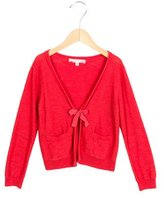 Bonpoint Girls' Long Sleeve Tie-Accented Cardigan