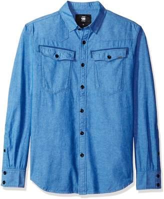 G Star Men's 3301 Long Sleeve Button Down Shirt
