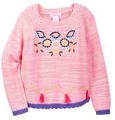 Design History Embroidered Sweater (Toddler & Little Girls)
