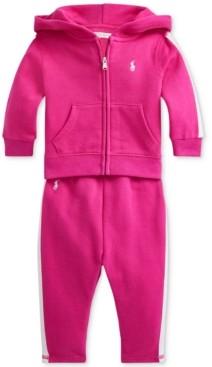 Polo Ralph Lauren Ralph Lauren Baby Girls 2-Pc. Fleece Hoodie & Jogger Pants Set