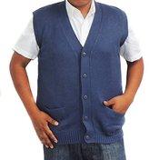 CELITAS DESIGN Vest alpaca and blend V neck buttons made in Peru Steel XXL