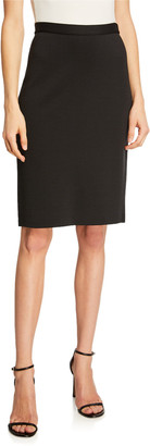 St. John Milano Knit Back-Zip Pencil Skirt
