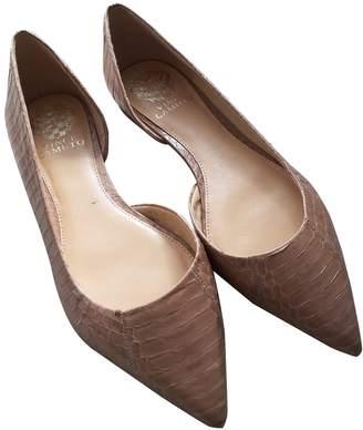 Vince Camuto Beige Leather Ballet flats