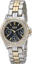Burgi Women's BUR117TTG Analog Display Quartz Two Tone Watch
