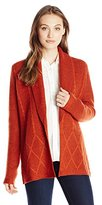 Pendleton Women's Placed Cable Cardigan Sweater