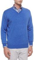 Peter Millar Wool V-Neck Sweater, Blue