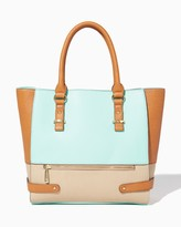 Charming charlie Bridgeport Colorblock Tote