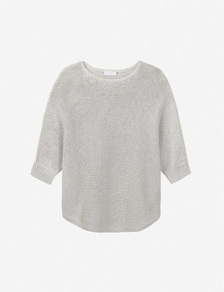 The White Company Boat-neck relaxed-fit cotton-knit jumper