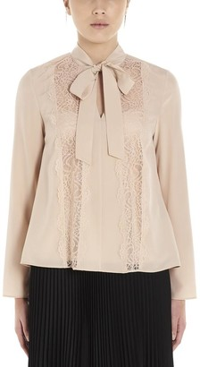 RED Valentino Lace Panelled Pussy Bow Blouse