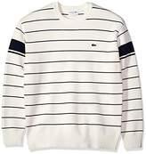 Lacoste Men's Long Sleeve Heritage France Milano Crew Neck Sweater